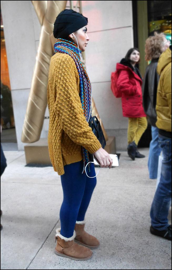 SS1-15  3w black turban mulit color scarf gold long sweater blue leggings uggs
