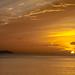 Atardecer Rincon, y la isla de Desecheo, Rincon Sunset, Puerto Rico by Louis O'Halloran