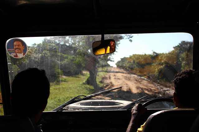 Driving out of Yala National Park