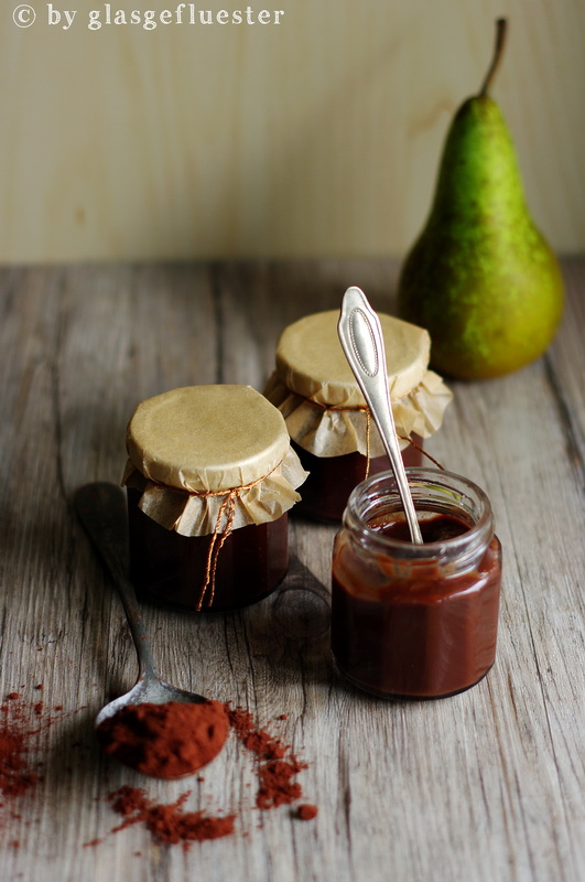 Birnen Schokoladen Marmelade by Glasgeflüster 2 klein