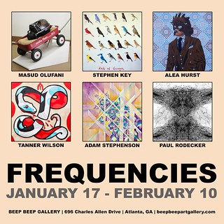 22015-01-17 Frequencies by Adam Stephenson Alea Hurst Masud Olufani Paul Rodecker Stephen Key Tanner Wilson Beep Beep Gallery