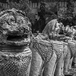 Wat Thammikarat görüntü. white black blanco thailand asia buddhist negro esculturas tailandia buddhism lions southeast wat sculptures phra ayutthaya leones budismo budista sudeste asiatico thammikarat