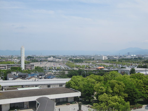 京都競馬場の6階からの景色
