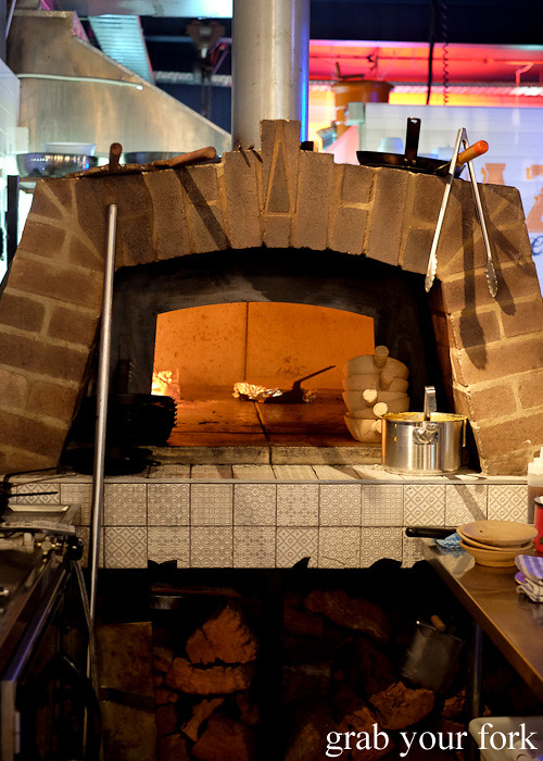 The wood fire oven at Pazar Food Collective, Canterbury