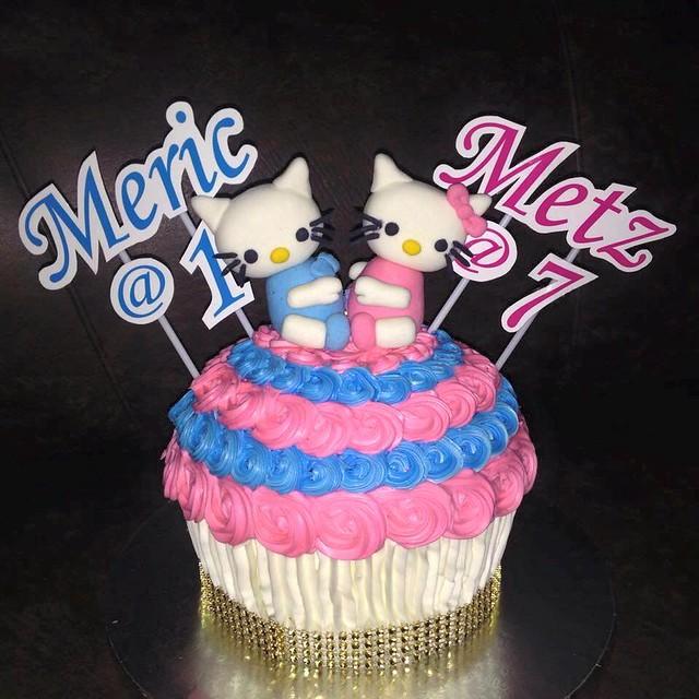 Dear Daniel & Hello Kitty on a Giant Cupcake by Ria Mendoza Gatchalian