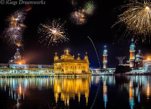 Diwali Fireworks @ Golden Temple Amritsar