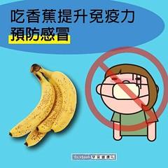 吃香蕉提升免疫力,預防感冒