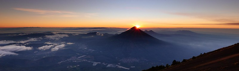 Sunrise at Volcán de Agua - Antigua