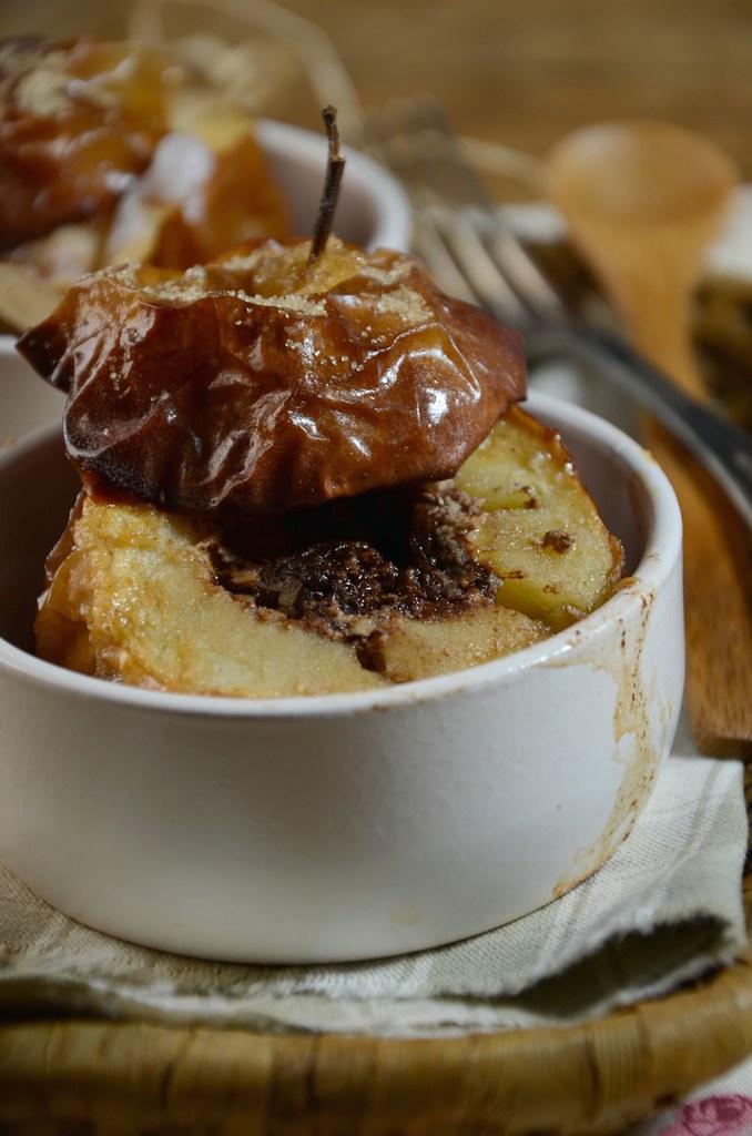Pommes au four chocolat et noix de coco