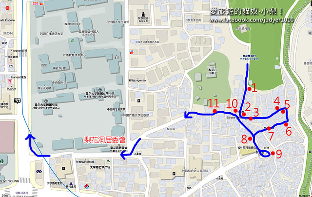 梨花洞地圖 -2