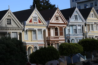 The row of houses that featured in 80's sitcom 'Full House'  San Francisco, California.