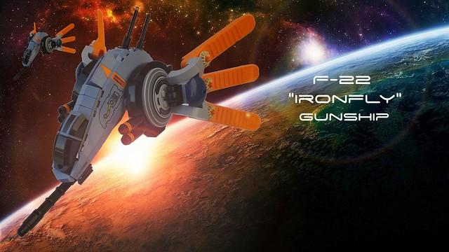 """F-22 """"Ironfly"""" Gunship"""