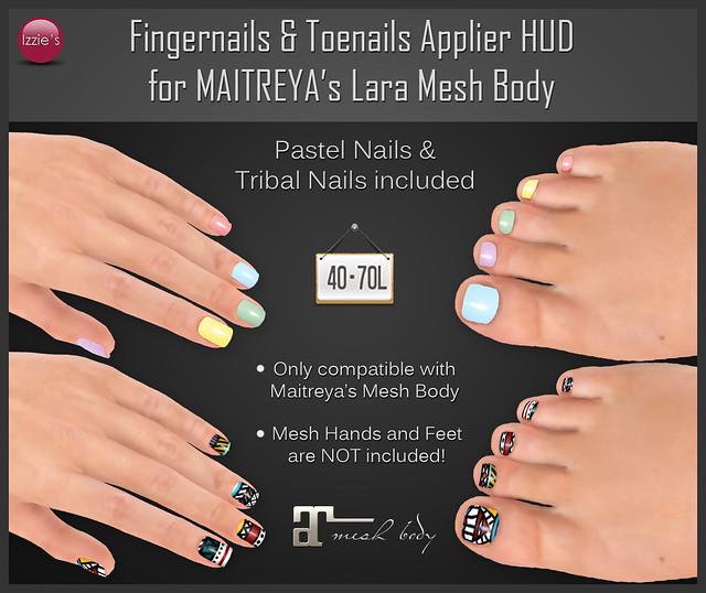 TDRF (Maitreya Lara Nails Hud - pastels & tribal)