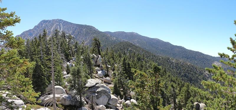 Looking back at Folly Peak