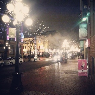 Image of Gastown Steam Clock near West End. square squareformat iphoneography instagramapp uploaded:by=instagram foursquare:venue=4aa9662cf964a520795320e3