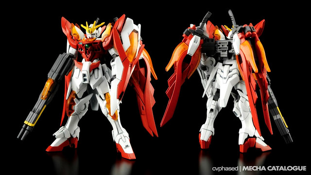 HGBF Wing Gundam Zero Honoo - Colored Prototype Shots