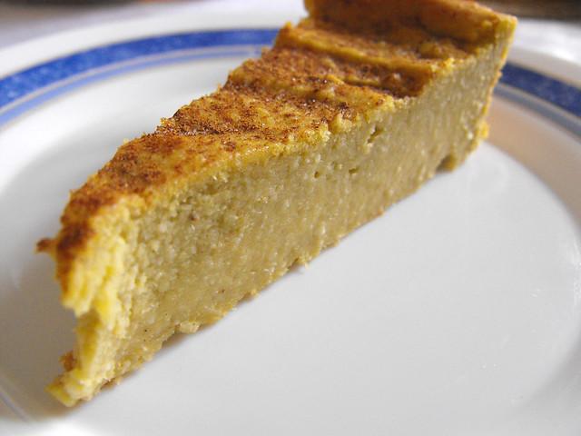 Tarte de batata-doce com amêndoa