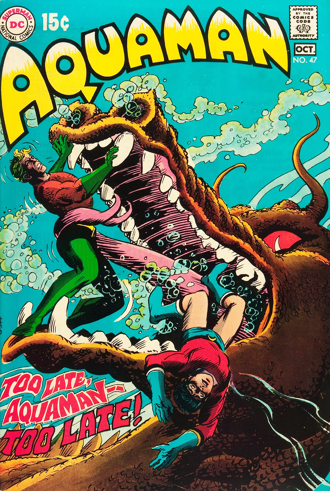 Aquaman #47 (DC, 1969) Nick Cardy Cover