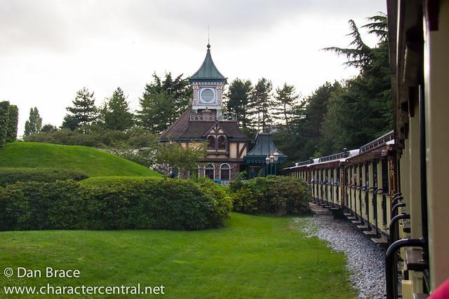 Taking a trip on the Disneyland Railroad