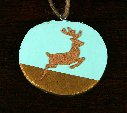 Cork Reindeer Wood Slice Ornament | shirley shirley bo birley Blog