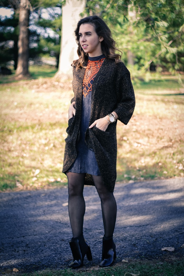 free people dress. diane von furstenberg booties. winter outfit. oversized sweater. thanksgiving outfit. cold weather. dc style.  va darling. 3