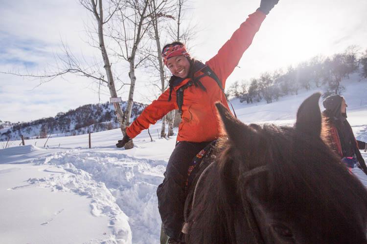 Horse Trekking & Snowboarding at Arslanbob, Kyrgyzstan