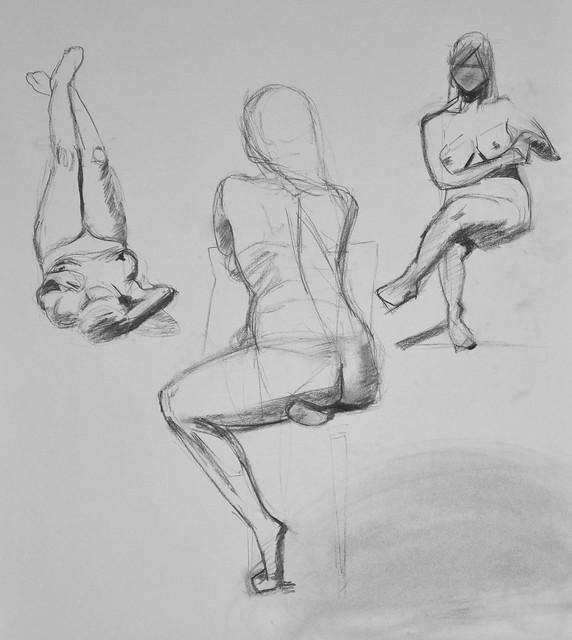 short pose figure drawing
