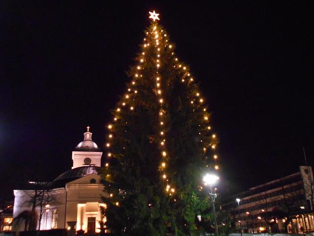 Jouluvalot Hämeenlinnan torilla 23.12.2014