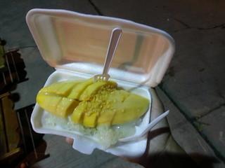 Mango sticky rice. Postre tipico