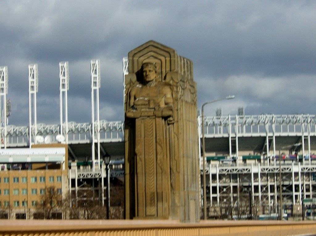 Statue on the Cleveland Bridge