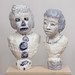 Elise Siegel_Majolica and Light Blue Portrait Bust_2014_ceramic, glaze_24x14x10in