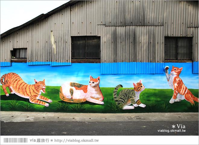 【嘉義菁埔貓世界】嘉義貓村~菁埔彩繪村。迷你版貓村,立體貓掌好俏皮!19