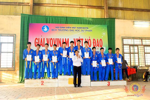 Bế mạc giải Vovinam ĐHSP Thái Nguyên mở rộng lần thứ nhất  năm 2014: Chủ nhà xuất sắc giành ngôi đầu