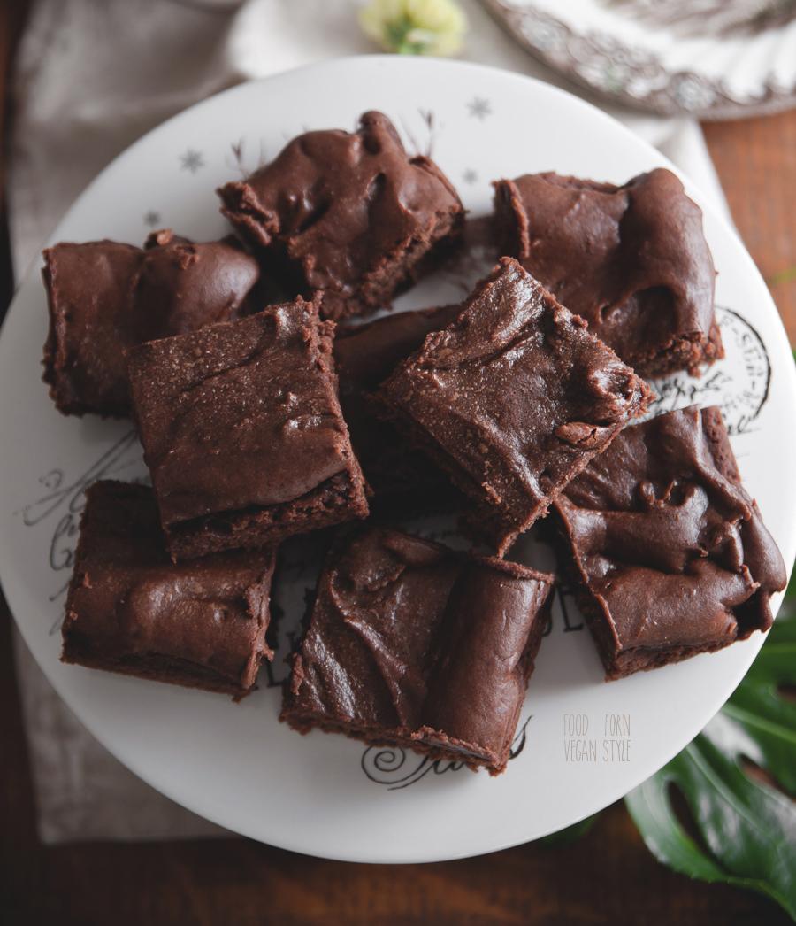 Vegan tahini brownie