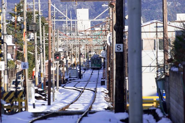 Randen at Ryoan-ji station.