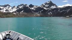 Entering King Edward Cove - Whaling Station and British Antarctic Survey Base, Grytviken, South Georgia
