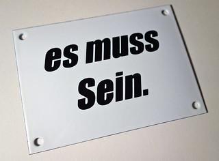 """Email-Schild-Edition """"es muss Sein."""""""