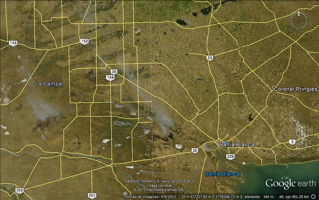 Incendios en La Pampa y Buenos Aires