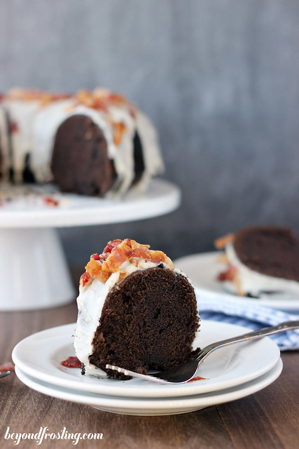 Ultimate Bourbon Maple Bacon Chocolate Cake