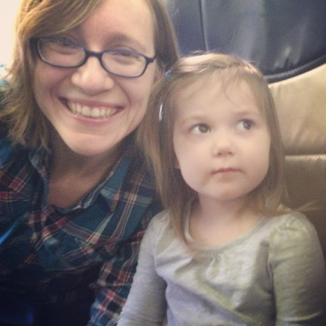 Plane ride! (We're at Midway, now). #winterbreak2014