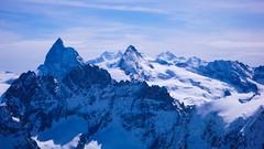 Widok ze  szczytu Pigne d Arola  3796m. Matternhorn i masyw Monta Rosa.