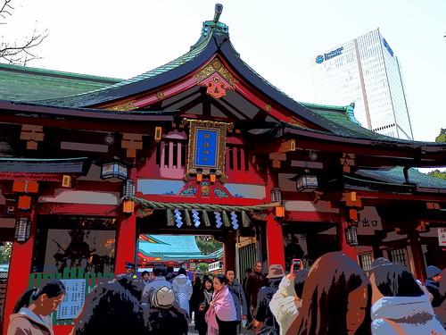 日枝神社 2015年 初詣