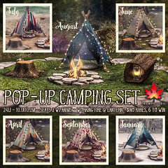 Trompe Loeil - Pop-Up Camping Set Gatcha for The Arcade June