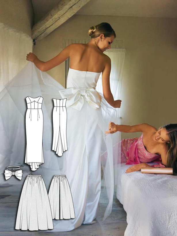 108 strapless wedding dress with bow 032010