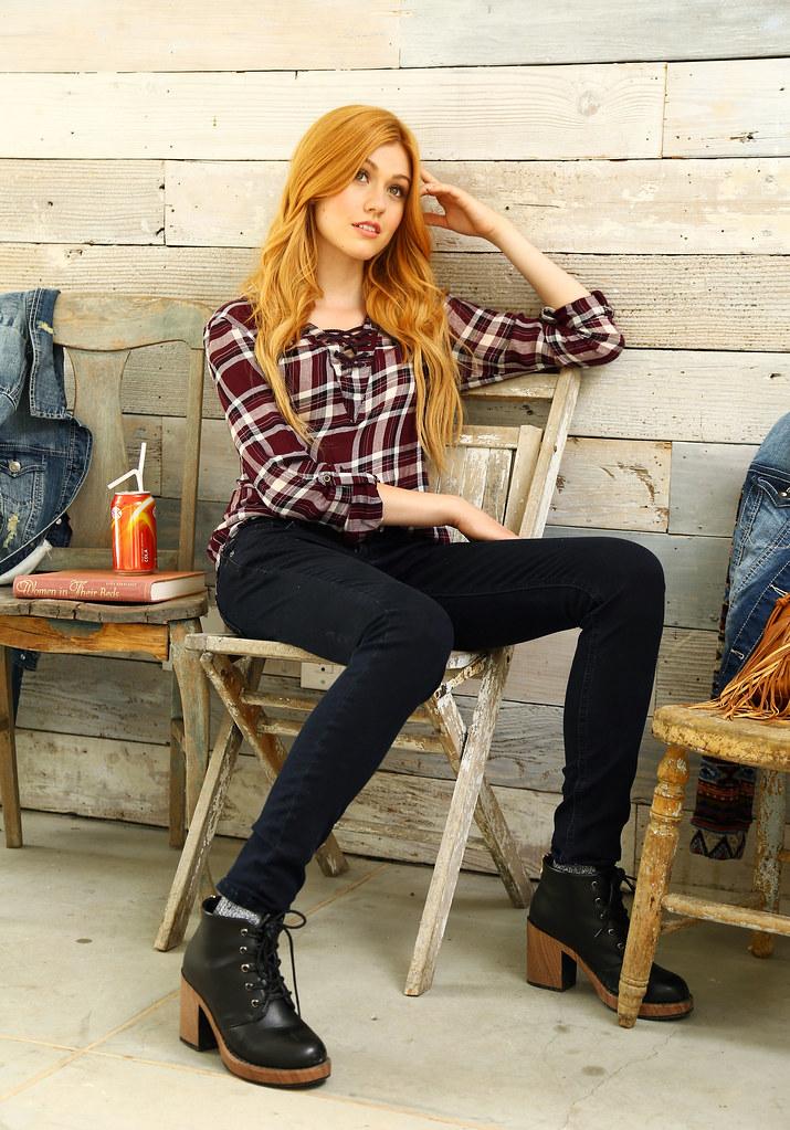 Кэтрин МакНамара — Фотосессия для «Wallflower Jeans» 2016 – 2