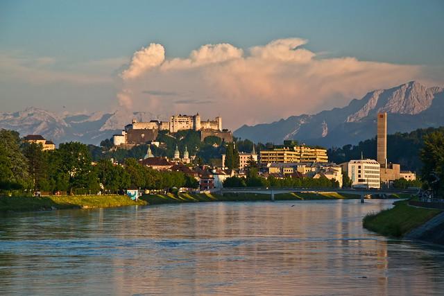 Salzburg on a fine evening in June