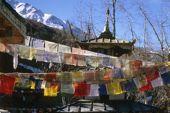 Lodge-Trekking Nepal, Annapurna Circuit, Gangapurna, 7454 m, von Manang. Foto: Archiv Härter.