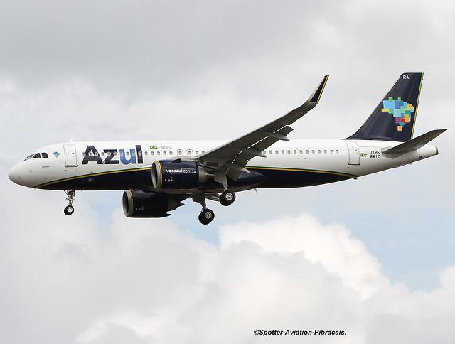 AZUL Linhas Aéreas Brasileiras. First Airbus A320 NEO For Company.