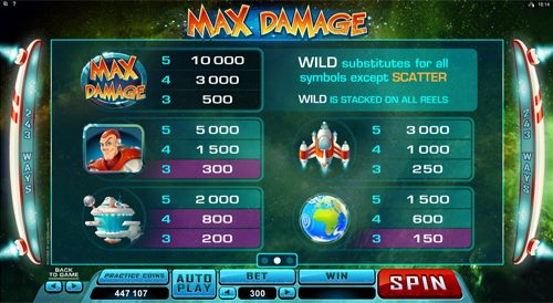 free Max Damage slot payout