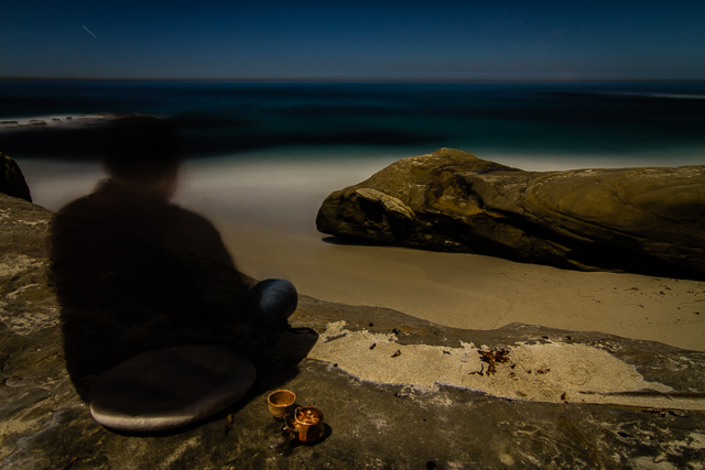 Windansea Beach at Night 110714 © Michael Klayman 2014- 03